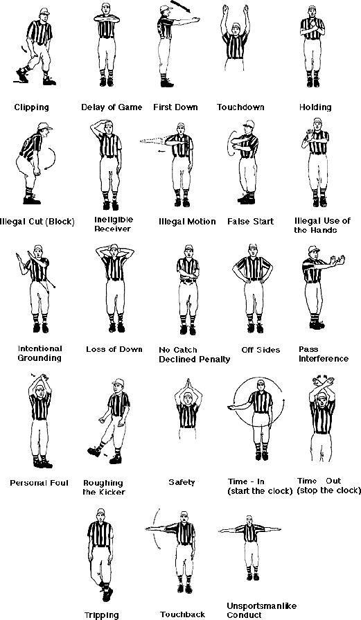 amerikansk fotball dommertegn
